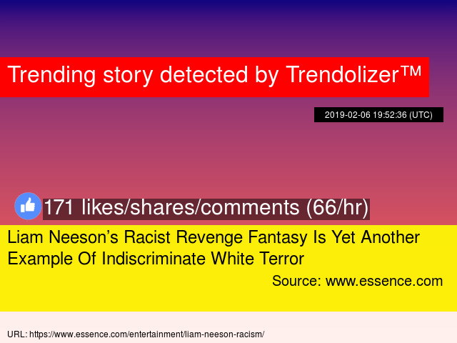 Liam Neeson's Racist Revenge Fantasy Is Yet Another Example Of